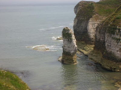 Flamborough Head, chalk column in the sea