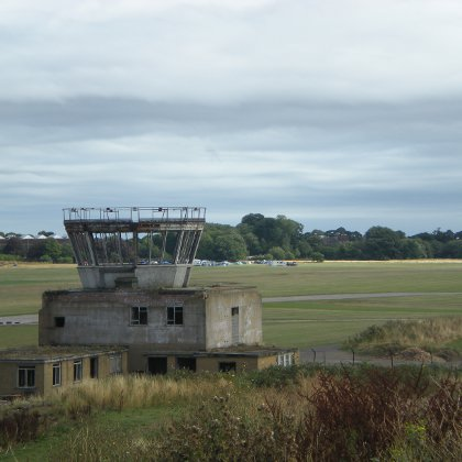 abandoned control tower at Manby