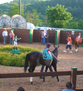 Maggie Slew, the 9 horse in the Decoration Day Handicap at Mountaineer 2007