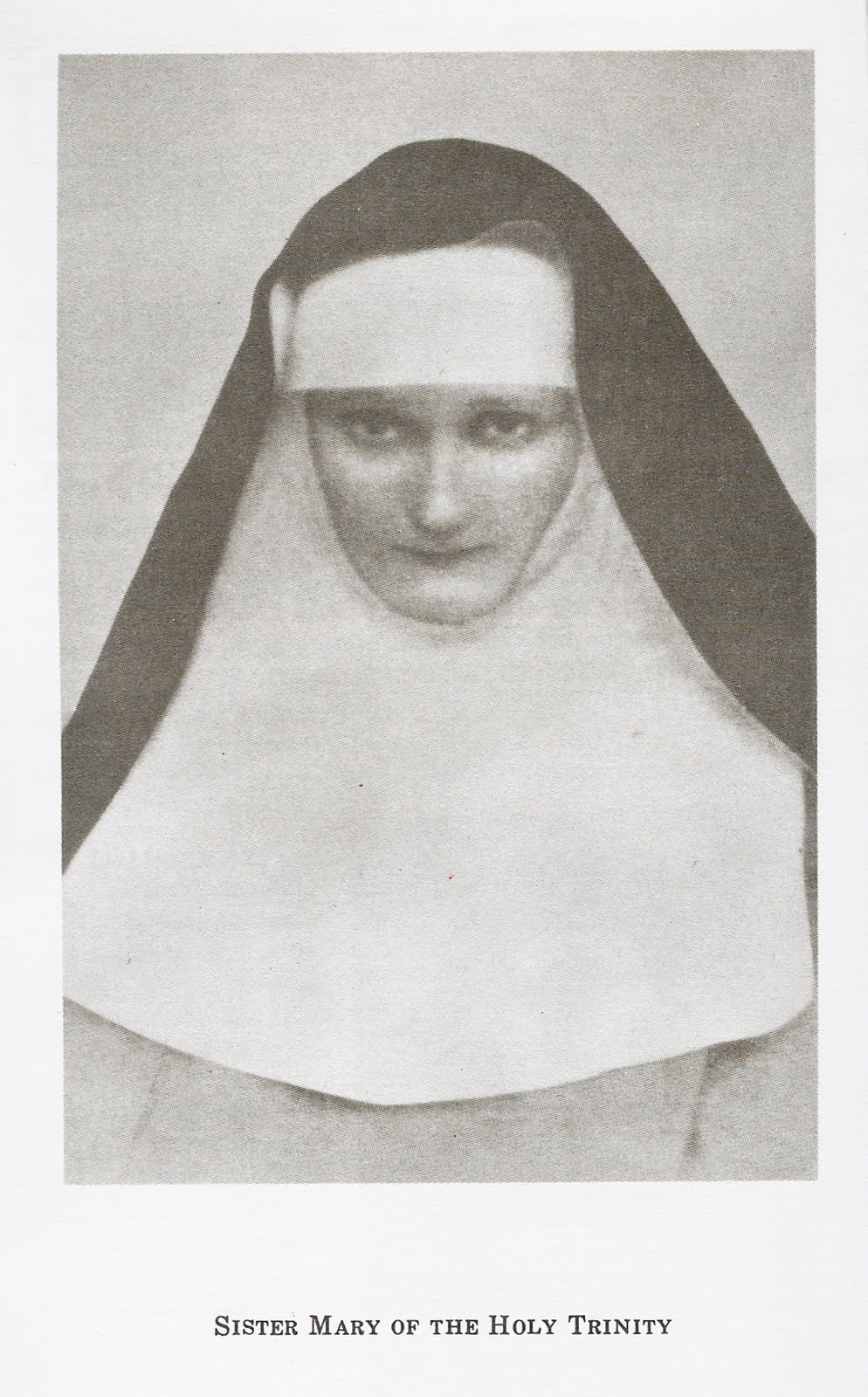 Sister Mary of the Holy Trinity -Poor Clare and Mystic of the 20th Century