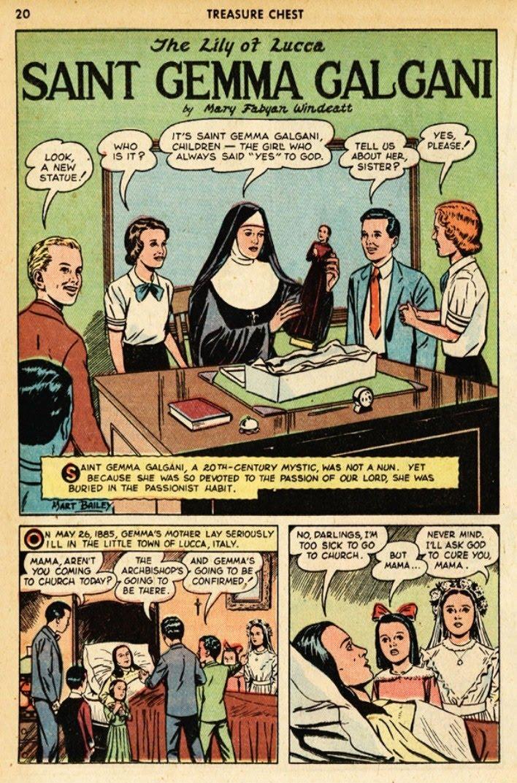 St Gemma Galgani: St Gemma comic strip book pages for kids