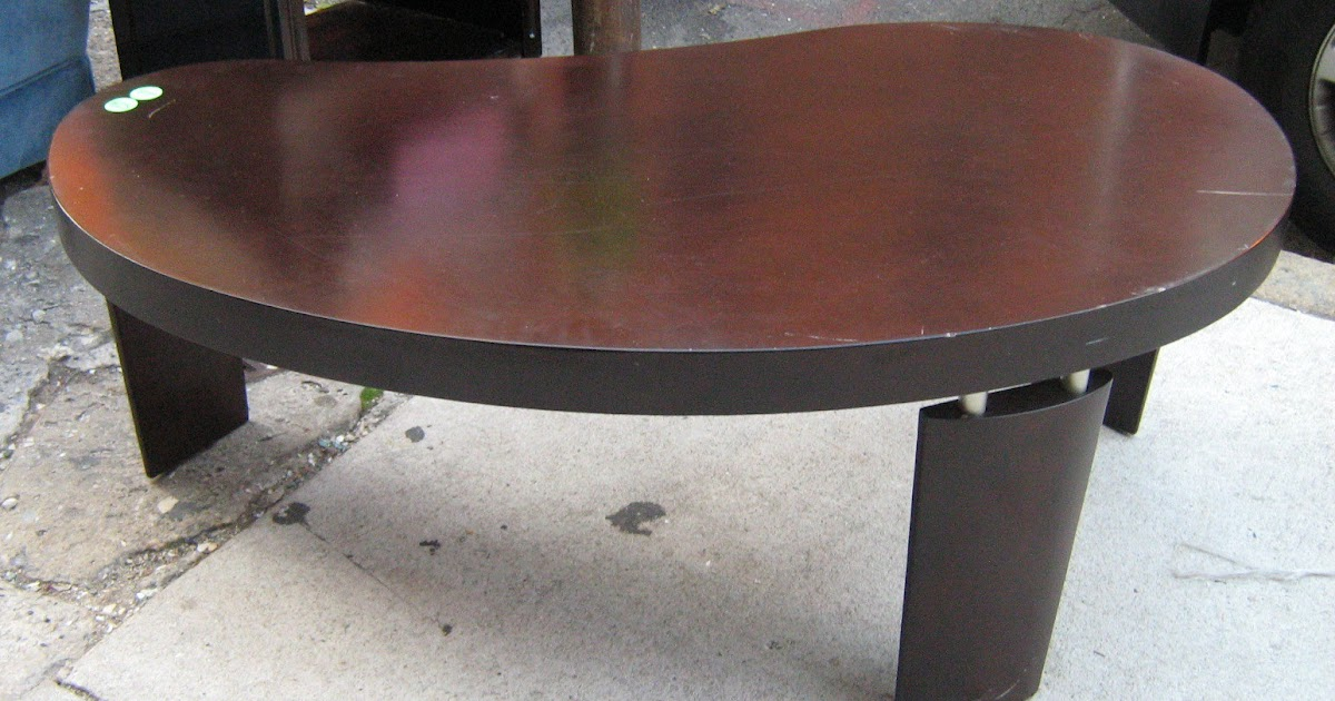 Uhuru Furniture Collectibles Cool Kidney Bean Shaped Coffee Table Sold
