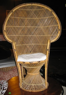 Two Wicker African Chairs  SOLD