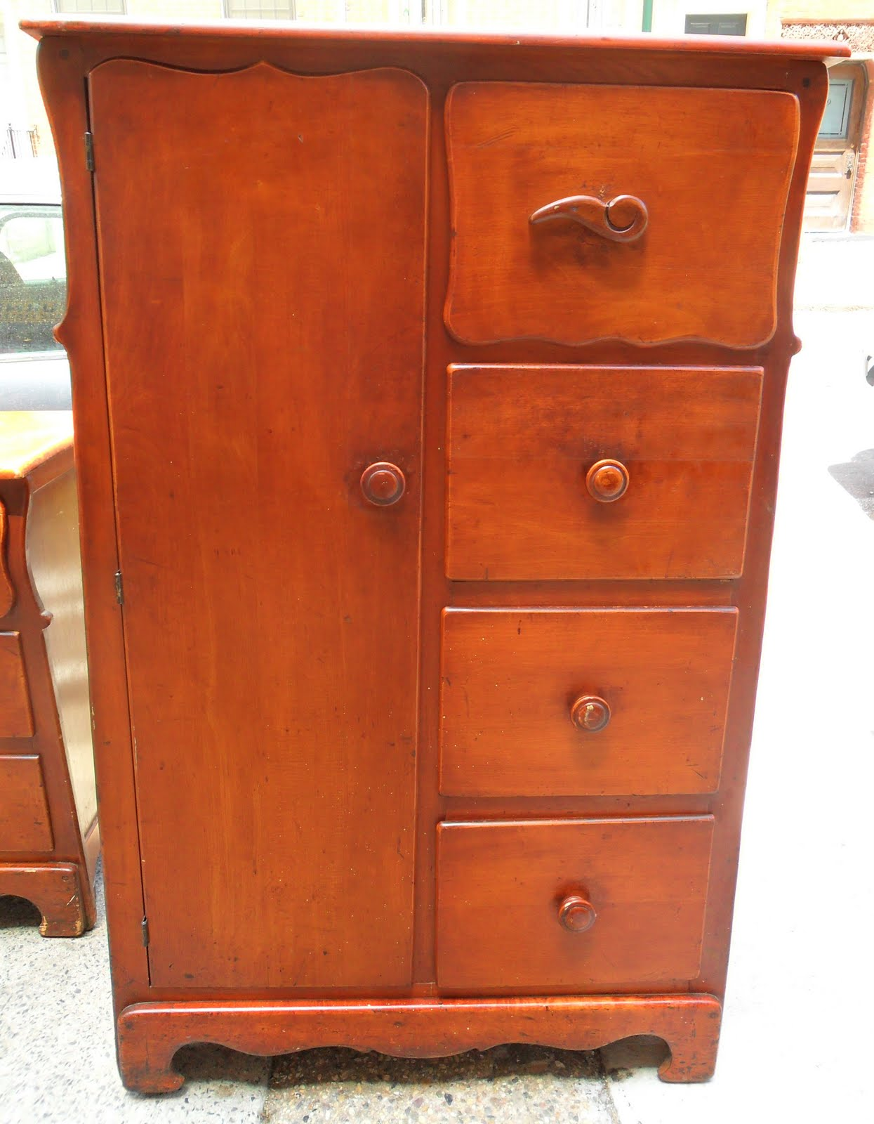 uhuru furniture collectibles 1940s rock maple bedroom set sold