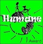 Humane blogger award