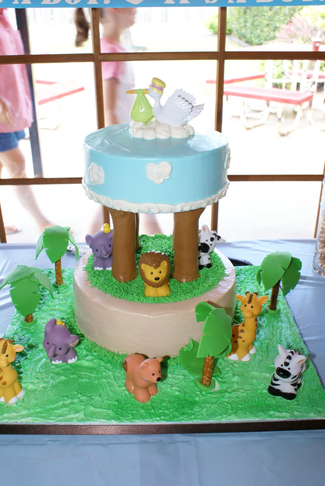 sweet creations by heather safari baby shower cake