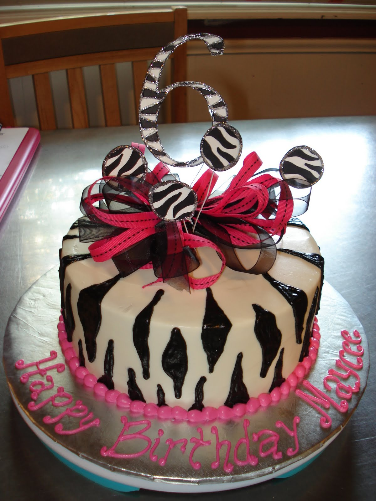 Sweet Creations By Heather Pink And Zebra Print Birthday Cake
