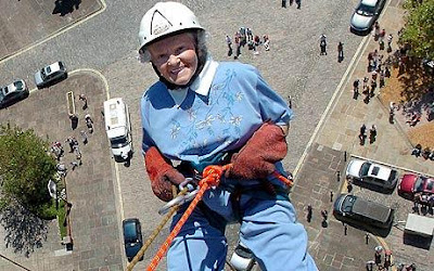 Doris Long to set world record by abseiling on 96th birthday,world's oldest,world records 2010