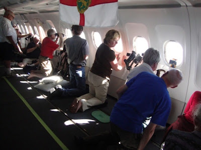 Longest eclipse ever observe picture, Eclipse view from plane, longest total solar view, astronomer Glenn Schneider and colleagues photo, Schneider's flight