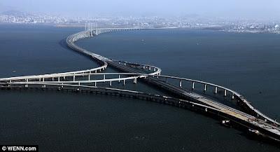 World's longest sea bridge 2011, World's longest sea bridge photo, Qingdao Haiwan Bridge picture, China Qingdao Haiwan Bridge, Jiaozhou Bay sea Qingdao Haiwan Bridge, china longest sea bridge, longest sea bridge world record 2011, Qingdao Haiwan Bridge images