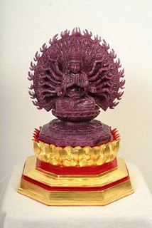 Largest Guanyin Carved Ruby photo, Monkarn Dhanajira world record 2011, largest carved ruby in world, world's largest carved ruby, largest carved ruby picture, Thailand largest carved ruby, largest carved ruby video, Thailand Largest Guanyin Carved Ruby