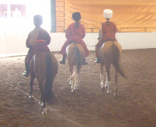 Callie on Ari, Cathy on Galen and Tayler on Mazzie at Celebrate the Horse Expo, July 5th and 6th, 2