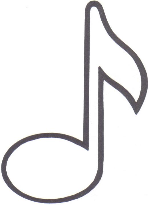 Moldes de notas musicales para imprimir - Imagui