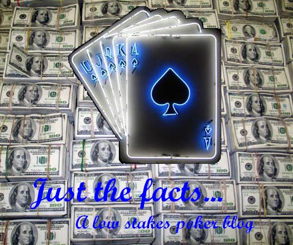 Just the facts...  a low stakes poker blog