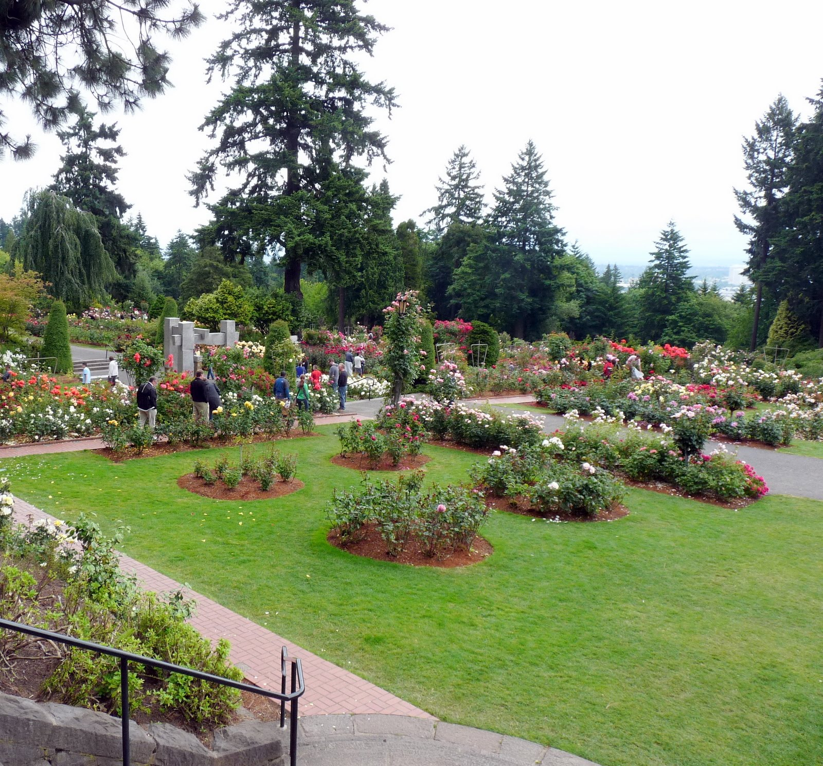 Entrance To Portland Rose Gardens : Portland s international rose test gardens at washington