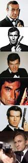 Connery, Lazenby, Moore, Dalton, Brosnan, Craig: Bond...James Bond!