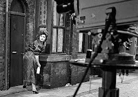 Elsie Tanner during filming
