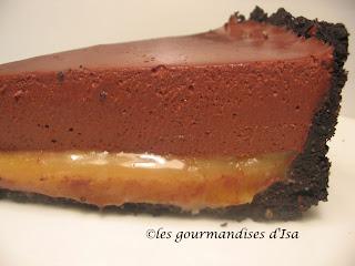 Gateau chocolat et caramel coup de pouce