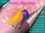 Premio al Blog del Amigo. Gracias a Verónica Curutchet.