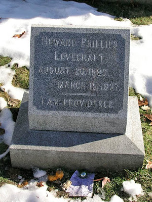 H P Lovecraft's grave