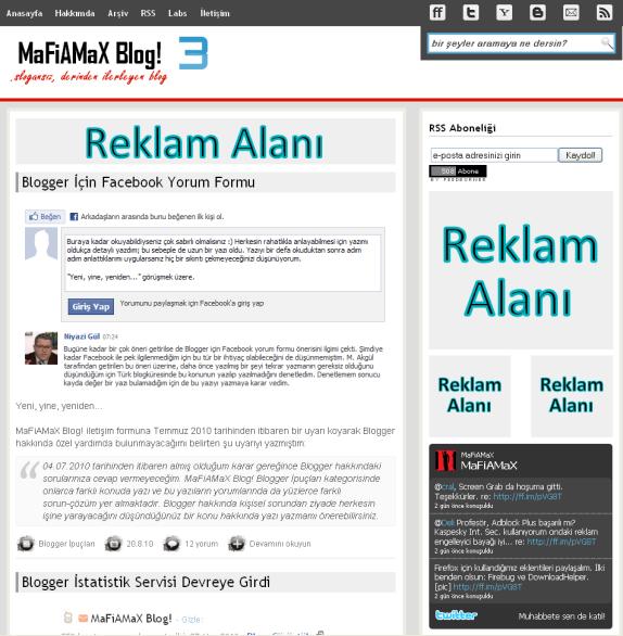 MaFiAMaX Blog! reklam alanları