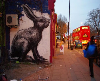 Bunny Graffiti Street Art