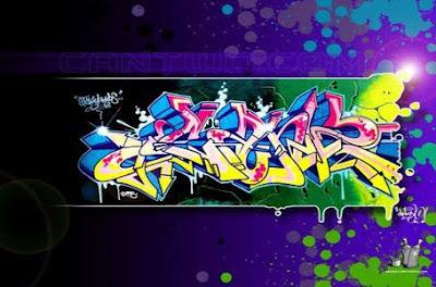 Blue Blink Graffiti Alphabet