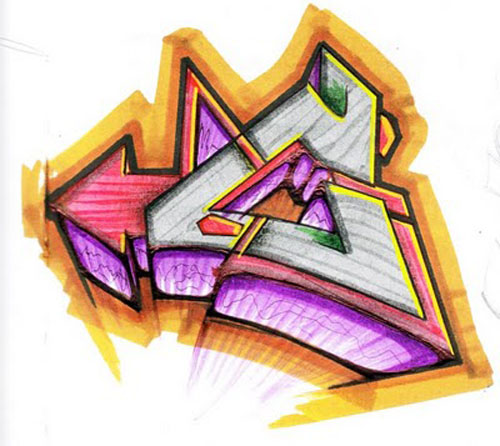 Graffiti Alphabet Letter C
