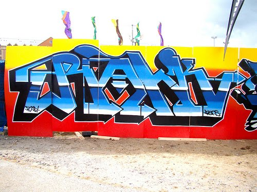 3d Graffiti Alphabet With Gradation