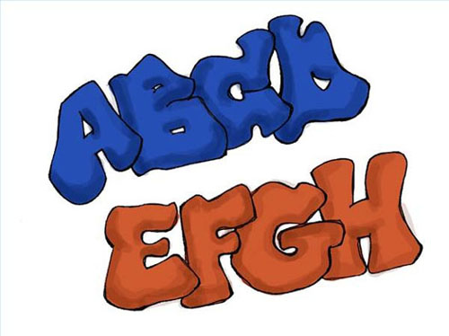 Alphabet Graffiti Throw up