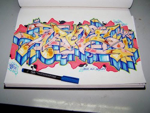 How to Write the Letter in Graffiti Alphabets