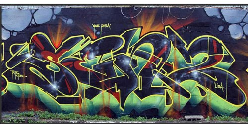 Graffiti Tag With Crew Name