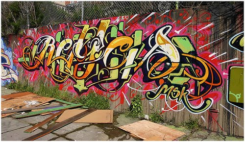 MSK Graffiti Names Street Art