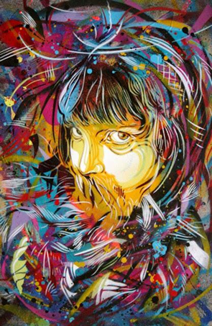 Birdy Graffiti Spray Paint on Canvas
