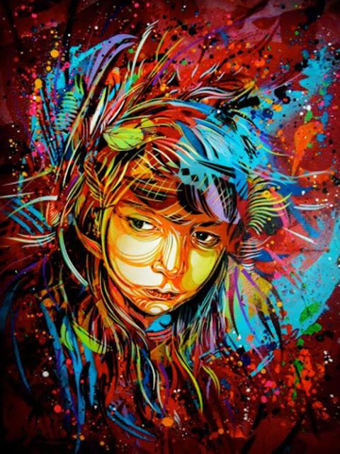 I'll Fly Away Graffiti Spray Paint On Canvas