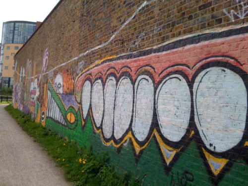London Urban Graffiti Art on Canal