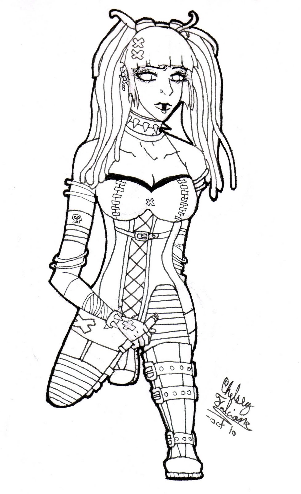 gothic art coloring pages - photo#39