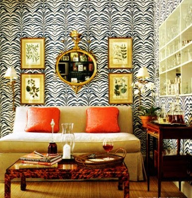 The zebra print throw rug added in this space gives it such an amazing face