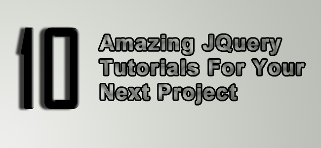 Calque 0 10 Amazing JQuery Tutorials For Your Next Project