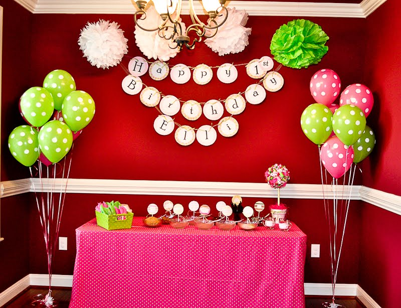 Polka Dot Birthday Supplies, Decor, Clothing: Ashley's Pink and