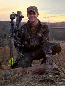A 30-pound Bobcat taken with the bow.