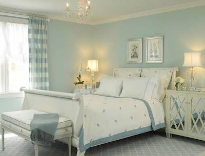 quarto de casal azul claro