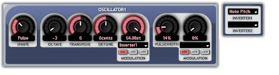 Inverted Note Pitch modulation in the Aspect VST Plugin