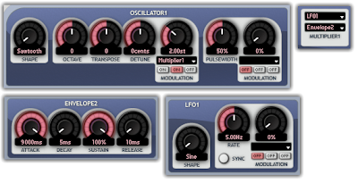 The Aspect Plugin fading in the depth of an LFO
