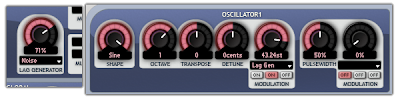Sines modulated by filtered white noise in Aspect