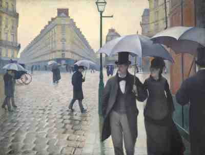 Gustave Caillebotte - Paris Street; Rainy Day (1877)