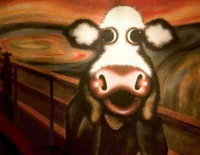 Caroline Shotton - The Moo (Edvard Munch's The Scream)