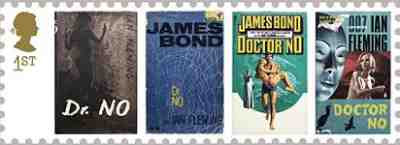1st Class Stamp showing Dr No book covers (2007)