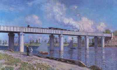 Claude Monet - Le Pont du chemin de fer à Argenteuil (1873)