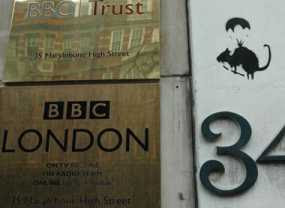 Banksy Rat on BBC Property